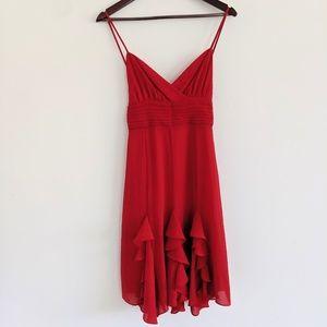 Vintage Morgan de Toi cherry red dress